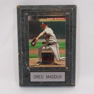 MLB Greg Maddox Braves 1995 Donruss Plaque Card